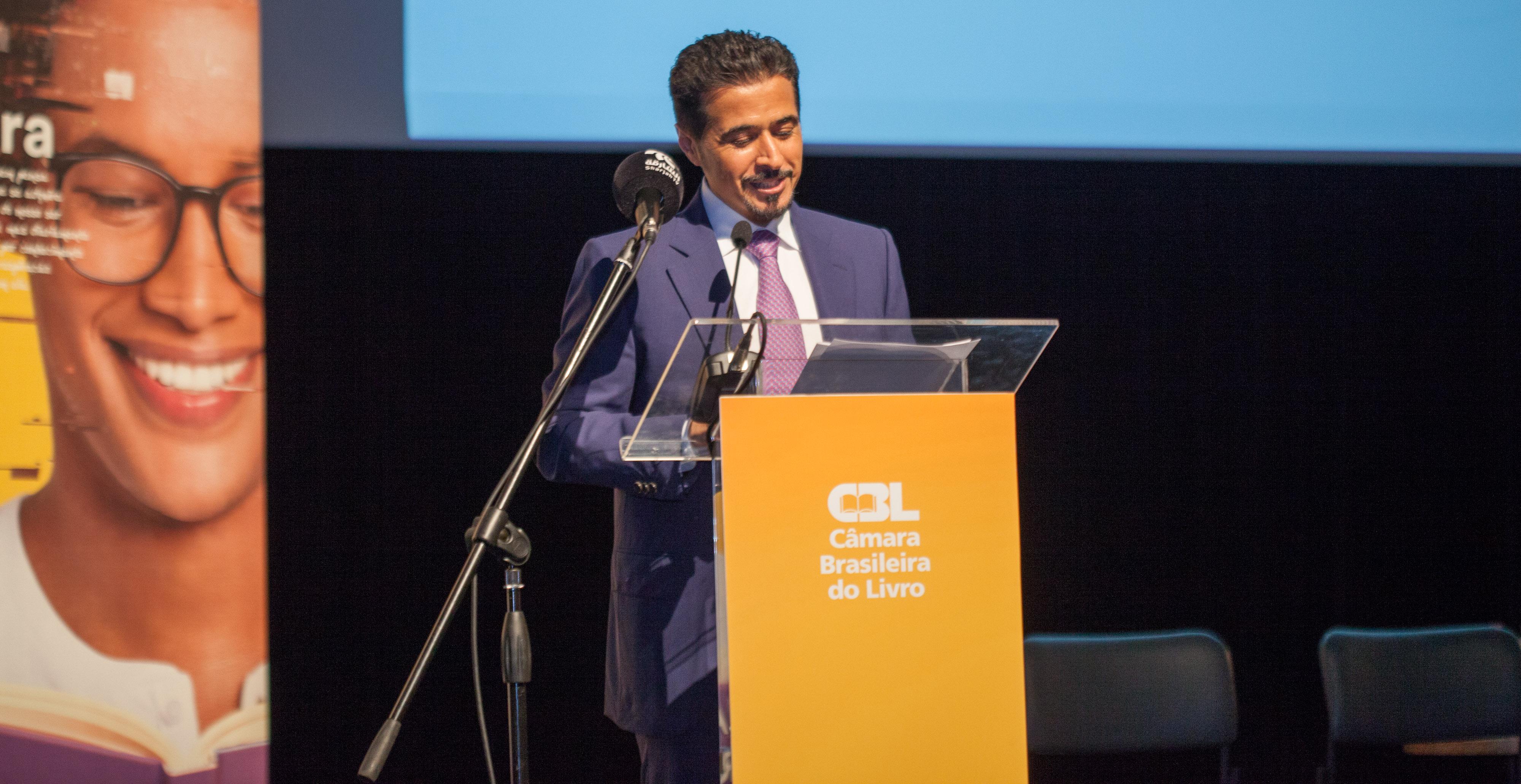 Representante de Sharjah espera ampliar relações com o Brasil durante a Bienal do Livro de São Paulo